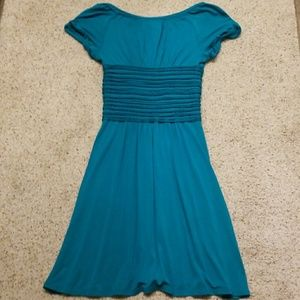 Studio M Dresses - Studio M teal short sleeved dress